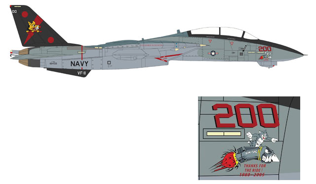 Century Wings F-14B Tomcat USN VF-11 Red Rippers