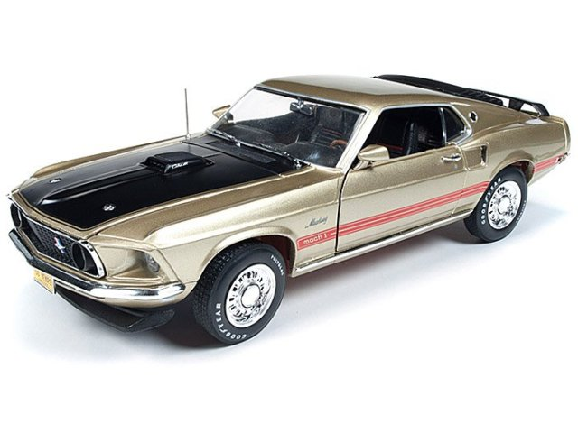 "Auto World 1969 Ford Mustang Mach 1 ""Golden 50th Anniversary of Mustang"""