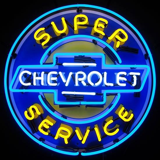 Neonetics Super Chevy Service Neon Sign
