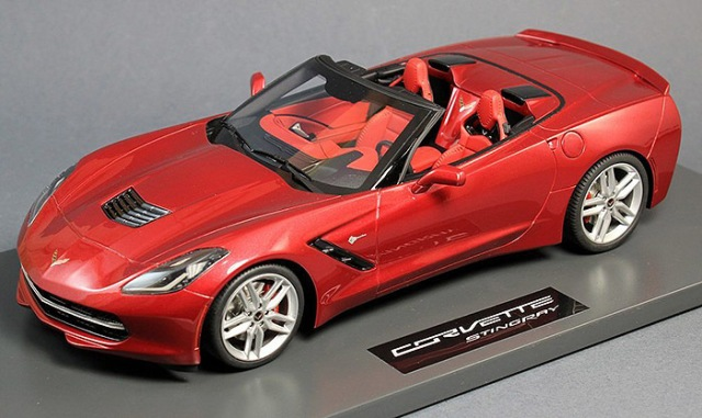 BBR Models 2014 Corvette Stingray C7, Crystal Red